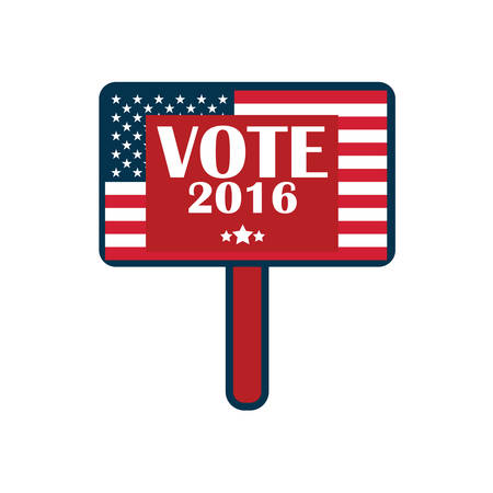 us election placard 向量圖像