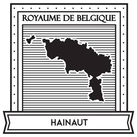 하이노 (Hainaut)지도 일러스트