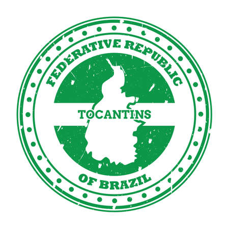 tocantins map stamp