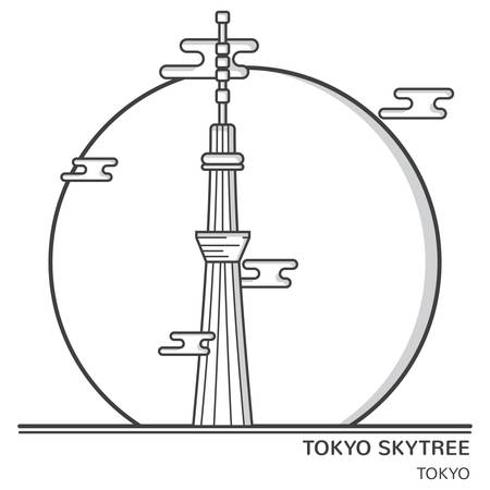 tokyo skytree 向量圖像