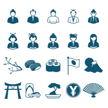collection of japanese icons 版權商用圖片 - 81533875