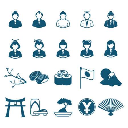 collection of japanese icons Фото со стока - 81533875