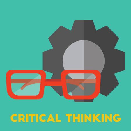 批判的思考の概念  イラスト・ベクター素材