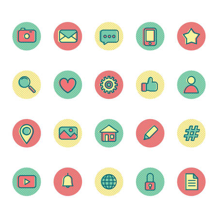 set of social media icons Stock fotó - 81533880