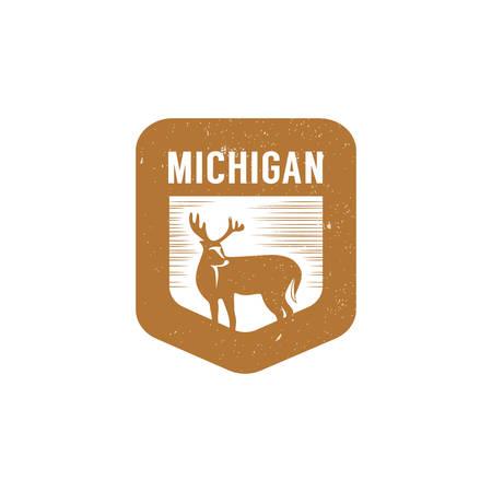 white-tailed deer Illusztráció