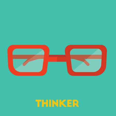 thinker Иллюстрация