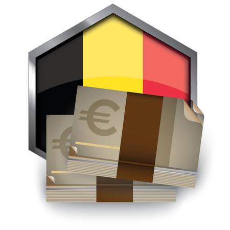 Billetes en euros Foto de archivo - 81589540