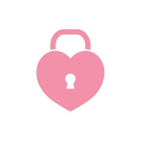heart lock Ilustracja