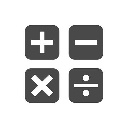 A calculation icons illustration.