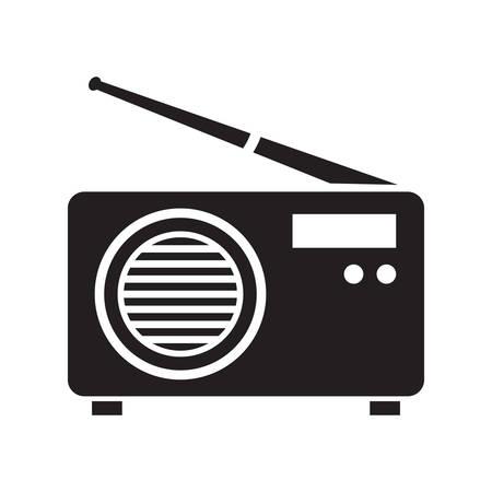 vintage radio Ilustrace