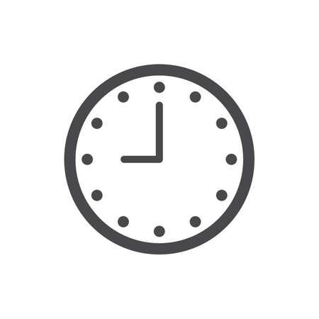 時計のイラスト。