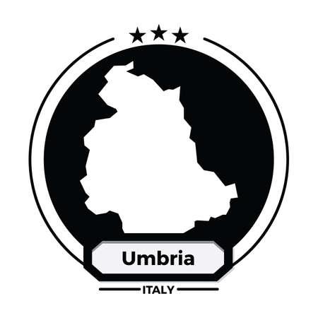 umbria map label