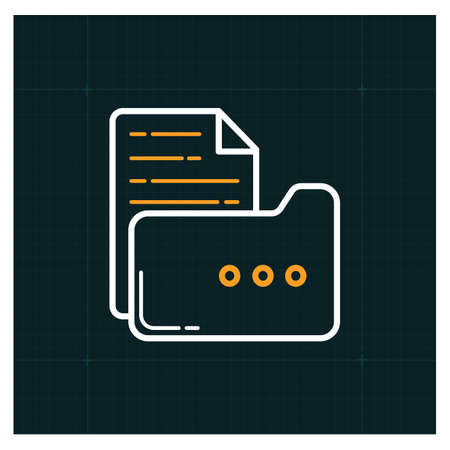 A folder with file icon illustration.