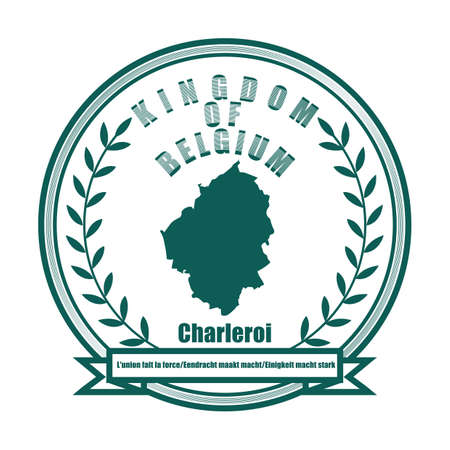 Mappa di Charleroi Archivio Fotografico - 81589560