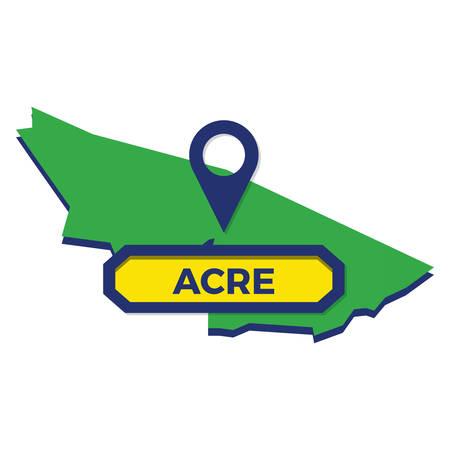 acre map with map pin Reklamní fotografie - 81483667