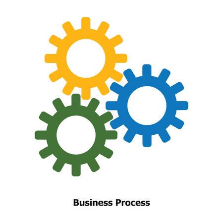 ビジネス プロセスの概念  イラスト・ベクター素材