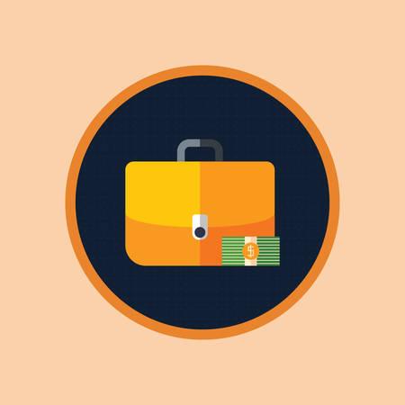 서류 가방과 달러