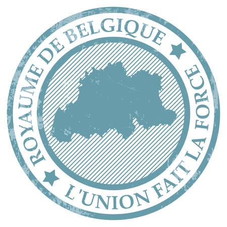 L'union fait la force map rubber stamp Banco de Imagens - 81589554