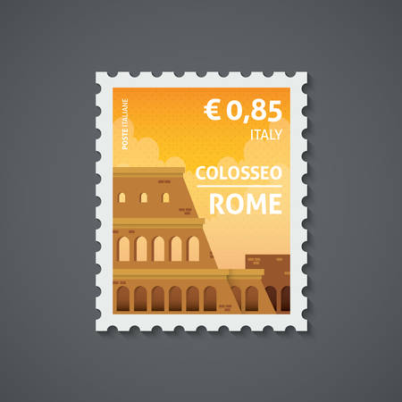 이탈리아 우표 일러스트