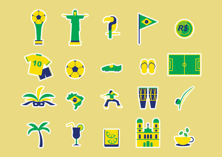 real trophy: brazil icons Illustration