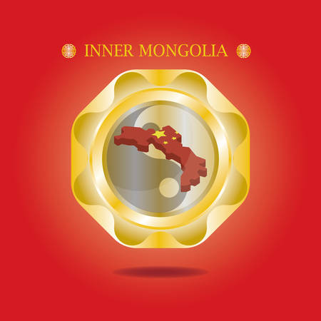 inner mongolia map  イラスト・ベクター素材