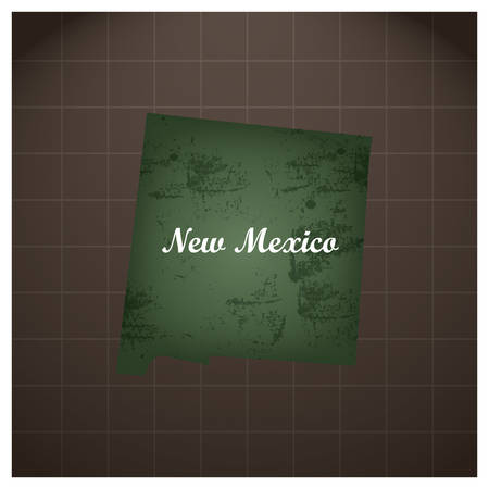 de staatskaart van New Mexico Stock Illustratie
