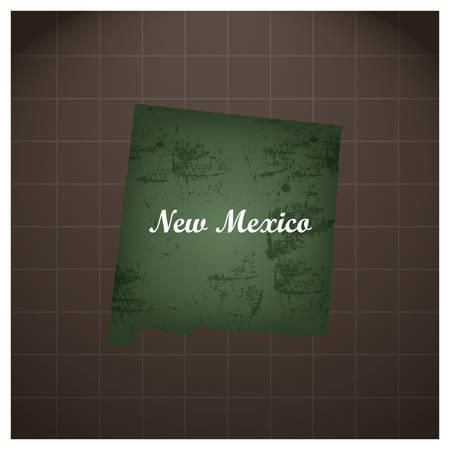 new mexico state map Illusztráció