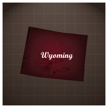 Wyoming state map Stock Illustratie
