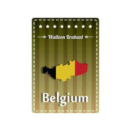 walloon: Walloon brabant map label