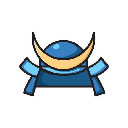 Kabuto helm voor samurai krijger Stockfoto - 81533789