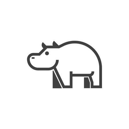 A hippopotamus illustration. Ilustração