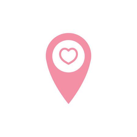 navigation pointer with heart symbol Banco de Imagens - 81484151