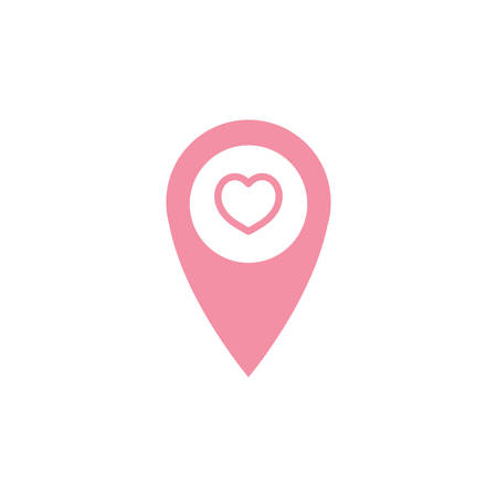 navigation pointer with heart symbol