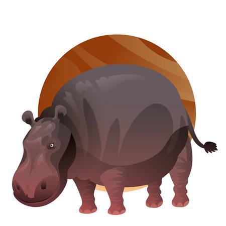 Een nijlpaardillustratie. Stock Illustratie