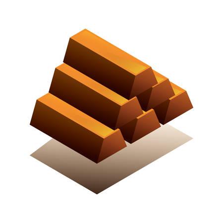 Gold bars Ilustração