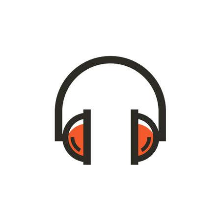 A headphones icon illustration.