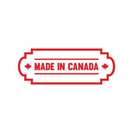 Made in canada label Stok Fotoğraf - 81589564