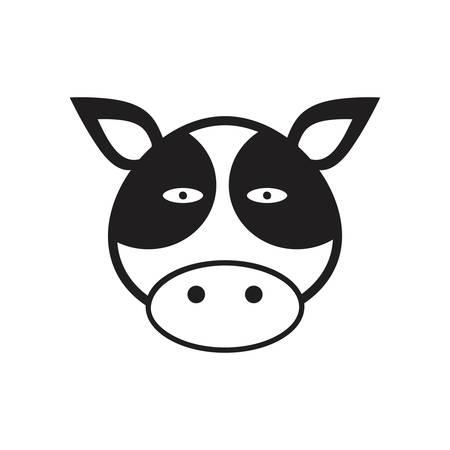 Una ilustración de la vaca. Foto de archivo - 81533910