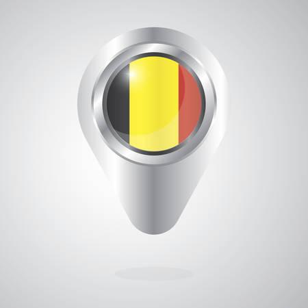 벨기에 깃발지도 포인터