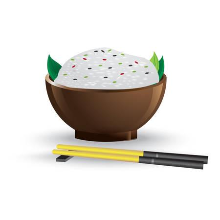 chinese hainam rice Ilustrace