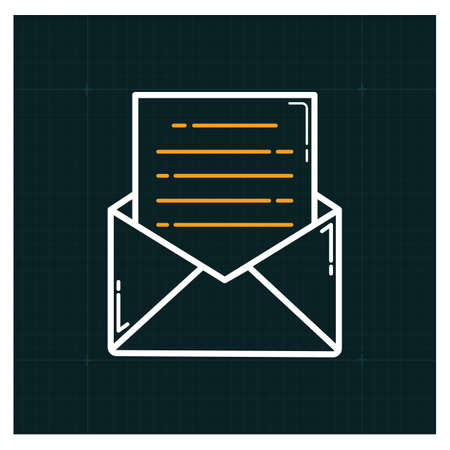 mail open icon Illustration