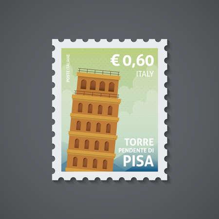 italy postage stamp Stock Illustratie