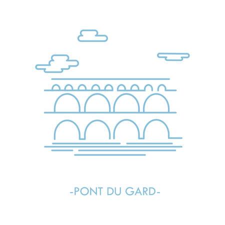 pont du gard Illustration