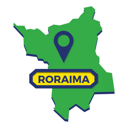 roraima map with map pin