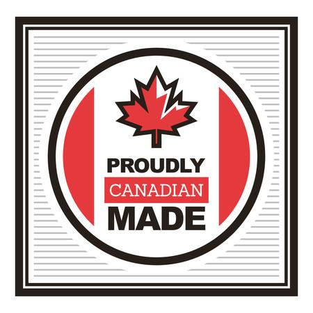 자랑스럽게 캐나다 제 라벨
