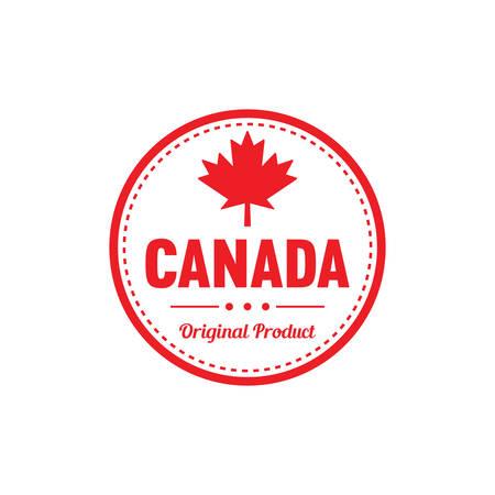 カナダ オリジナル製品ラベル  イラスト・ベクター素材