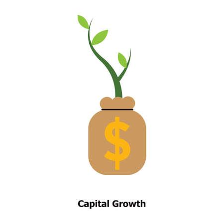 자본 성장 개념 일러스트