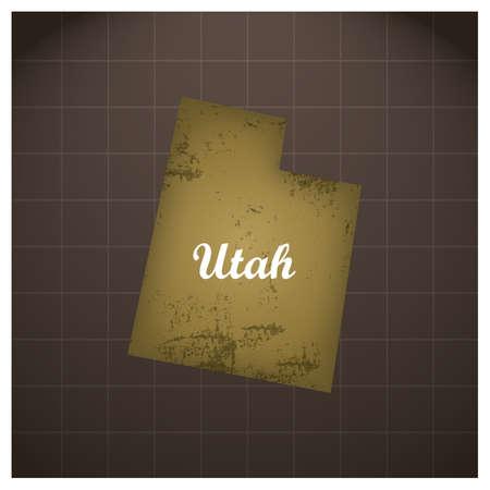 ユタ州地図  イラスト・ベクター素材