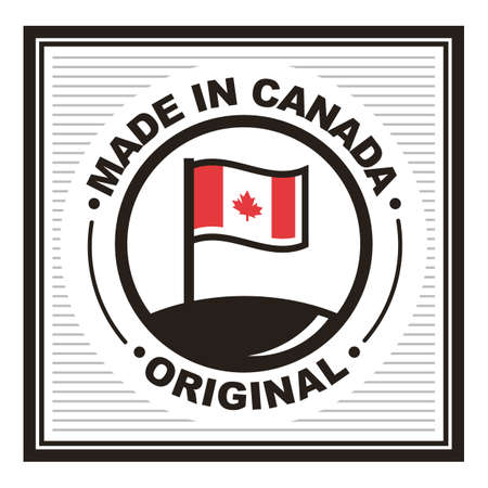 A made in canada label illustration. Stok Fotoğraf - 81533920
