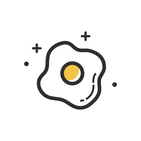 A fried egg illustration.